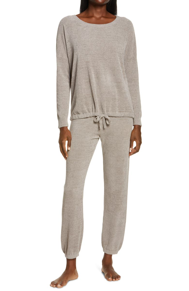 BAREFOOT DREAMS<SUP>®</SUP> CozyChic<sup>™</sup> Luxe Long Sleeve Pajamas, Main, color, GRAY SKIES