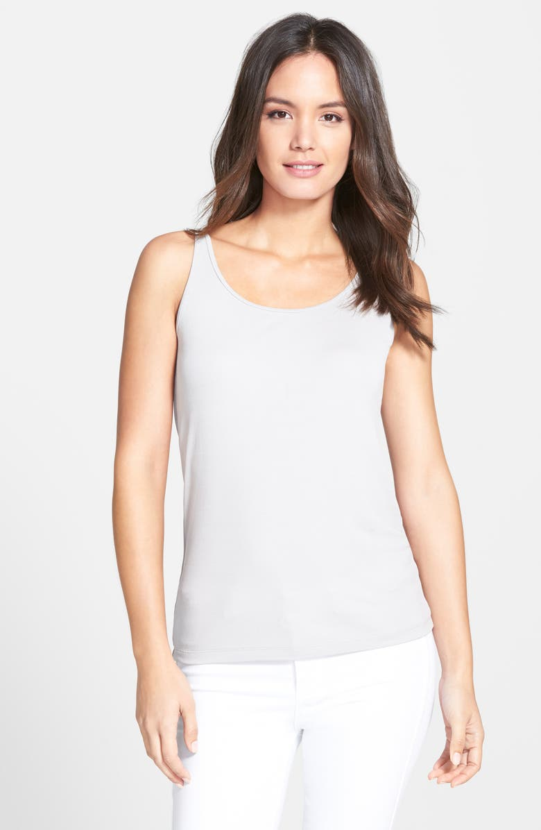 EILEEN FISHER Long Scoop Neck Camisole, Main, color, 021