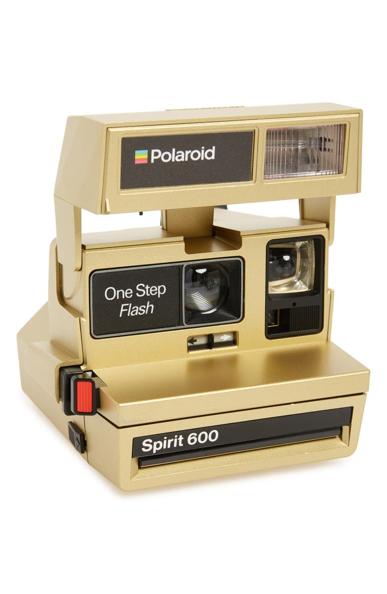 POLAROID Impossible Project Polaroid 600 Goldtone Metallic Instant Camera, Main, color, 710