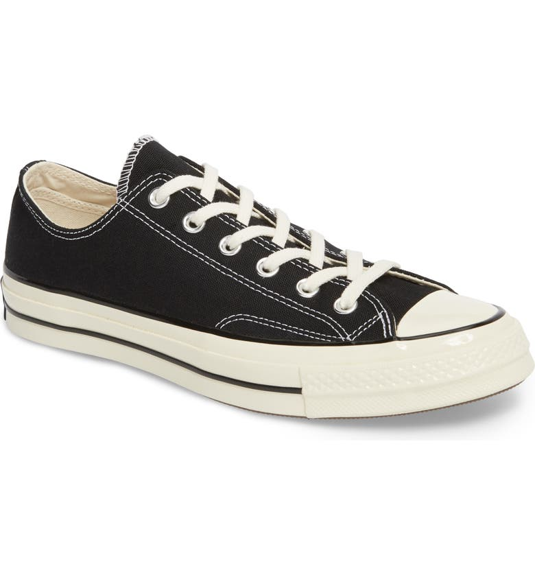 CONVERSE Chuck Taylor<sup>®</sup> All Star<sup>®</sup> 70 Low Top Sneaker, Main, color, BLACK/ BLACK/ EGRET