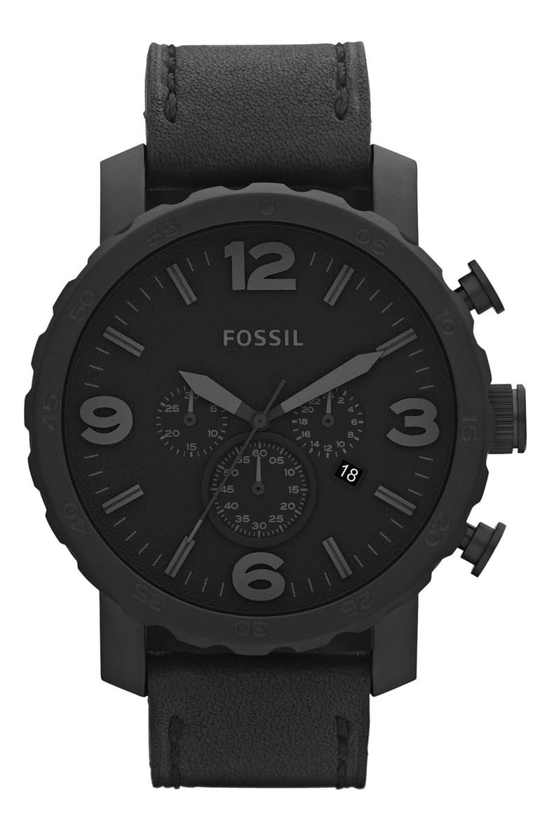 FOSSIL 'Nate IP' Chronograph Watch, 50mm, Main, color, 001