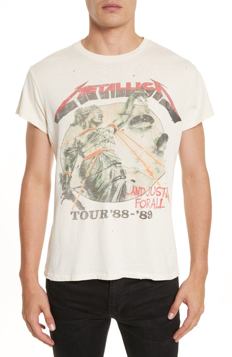 MADEWORN Metallica - And Justice for All Graphic T-Shirt, Main, color, DIRTY WHITE