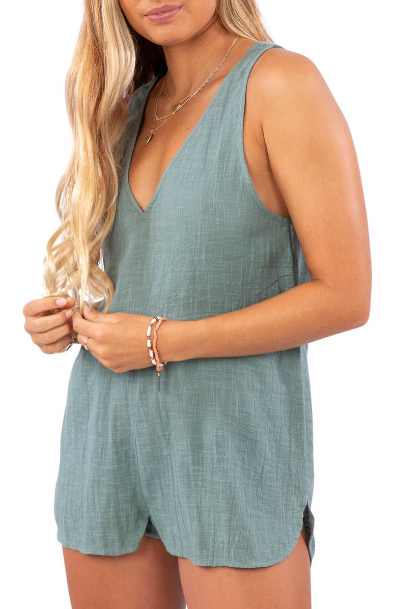 RIP CURL Holly Sleeveless Romper, Main, color, ARMY