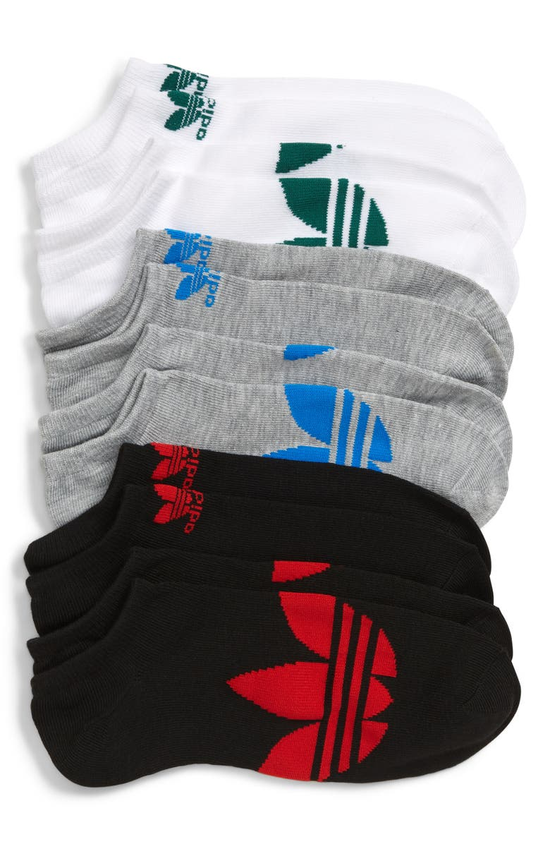 ADIDAS ORIGINALS adidas Original Trefoil 3-Pack Low-Cut Socks, Main, color, 050