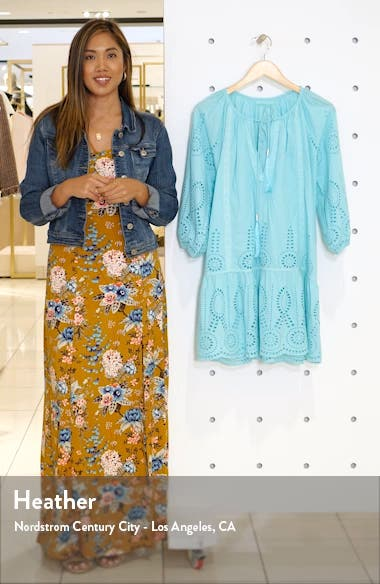 Ashley Eyelet Detail Cotton Cover-Up Tunic, sales video thumbnail