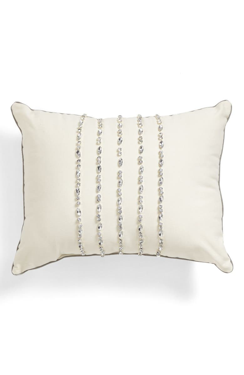 LAUNDRY BY SHELLI SEGAL 'Alexa' Pillow, Main, color, IVORY/ SILVER