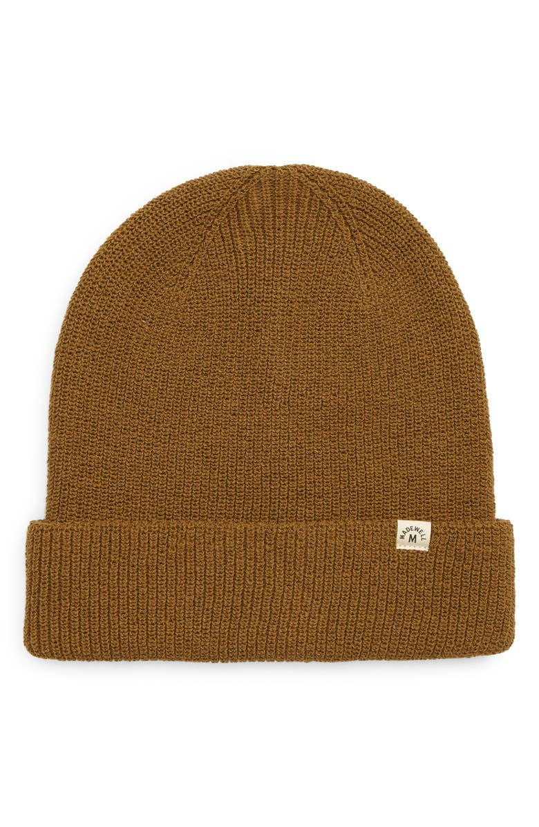 MADEWELL Recycled Cotton Beanie, Main, color, WEATHERED OLIVE