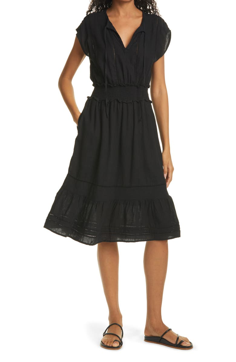 RAILS Ashlyn Dress, Main, color, BLACK LACE DETAIL