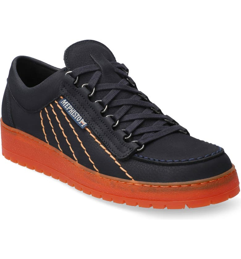 MEPHISTO Rainbow Sneaker, Main, color, NAVY