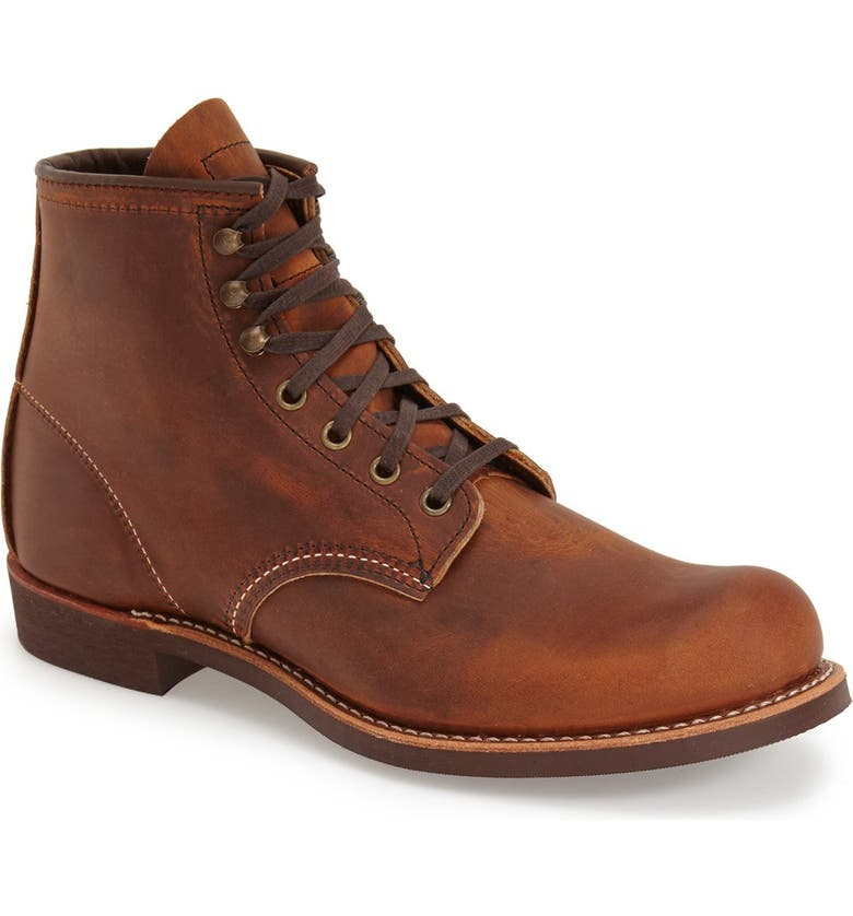 RED WING Blacksmith Boot, Main, color, COPPER LEATHER