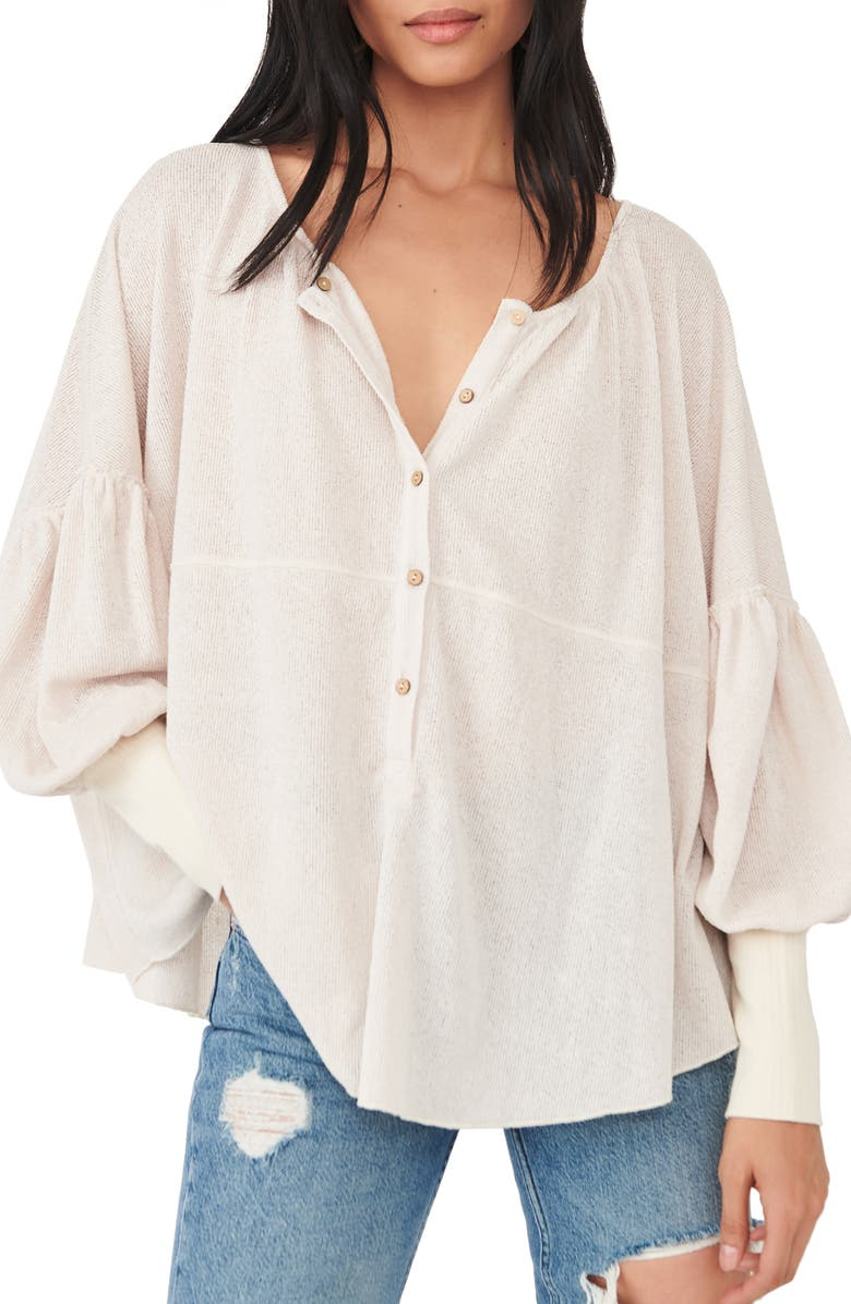 FREE PEOPLE Blue Bell Blouse, Main, color, TEA