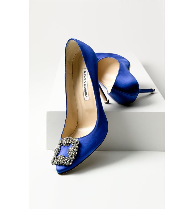MANOLO BLAHNIK 'Hangisi' Jeweled Satin Pump, Main, color, 650