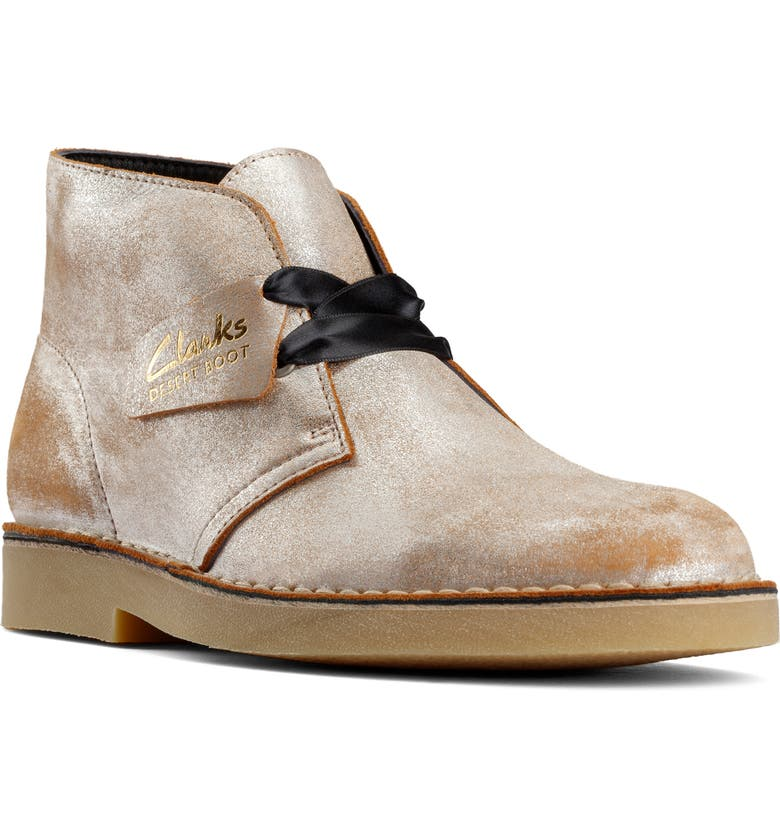 CLARKS<SUP>®</SUP> Desert Boot, Main, color, SILVER DISTRESSED LEATHER
