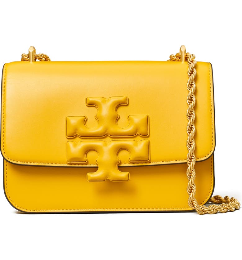 TORY BURCH Small Eleanor Convertible Leather Shoulder Bag, Main, color, GOLDEN CREST