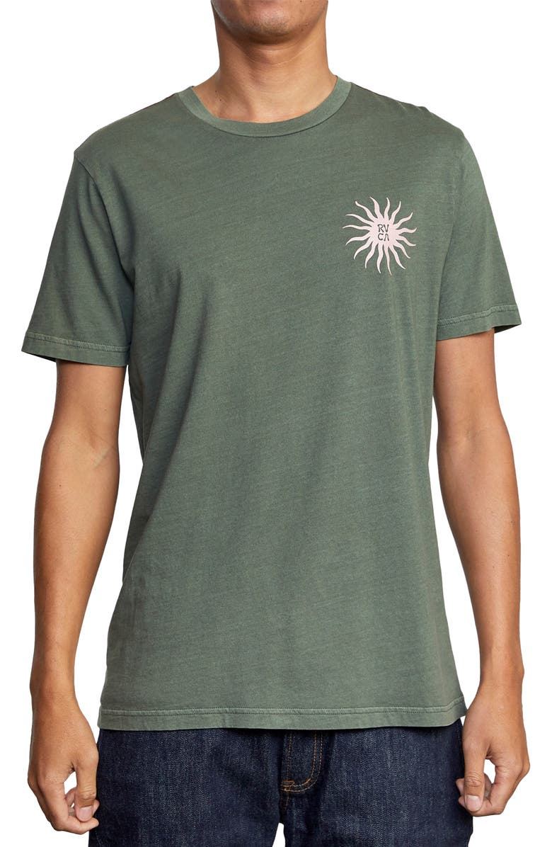 RVCA Sun Sprout Men's Graphic Tee, Main, color, CACTUS