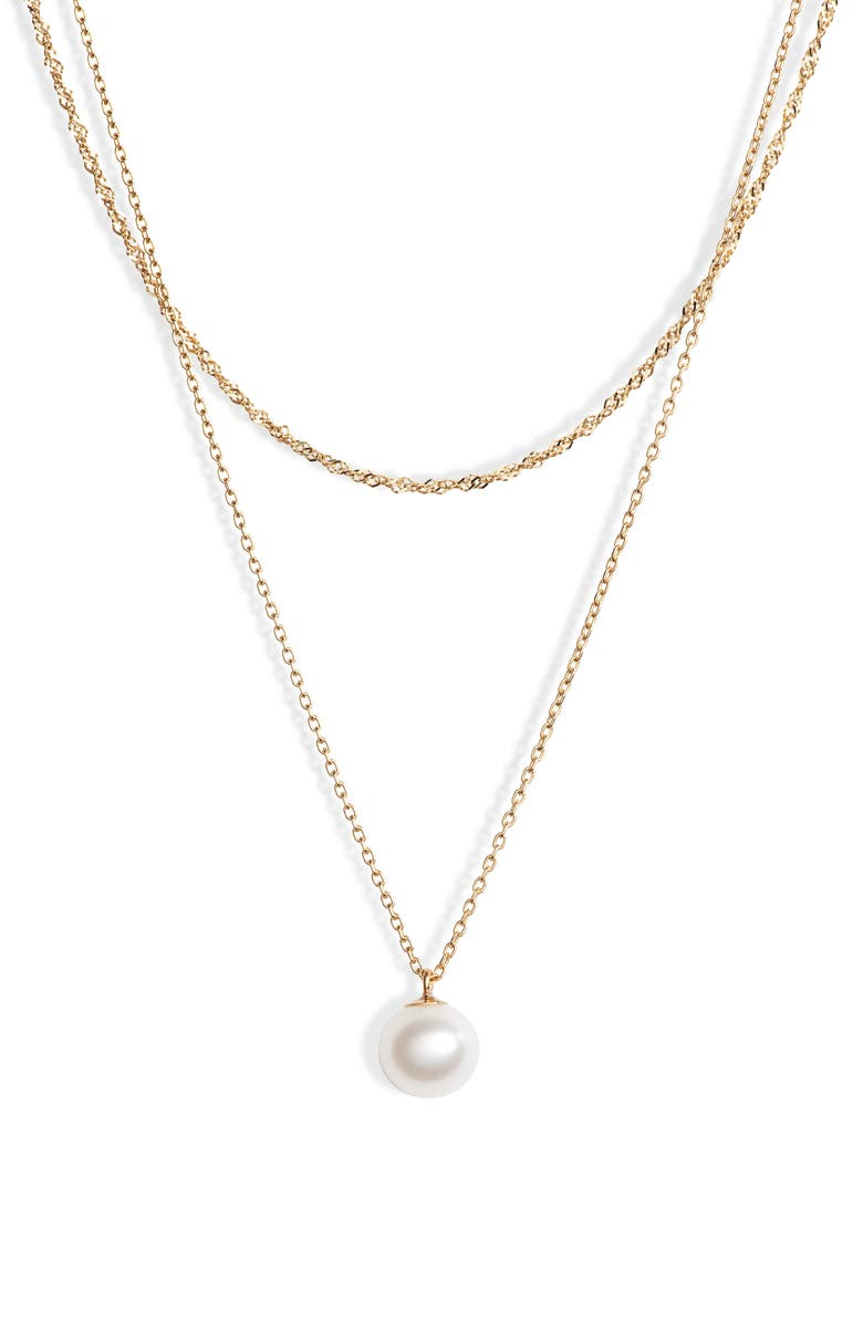 POPPY FINCH Pearl Layer Necklace, Main, color, 710