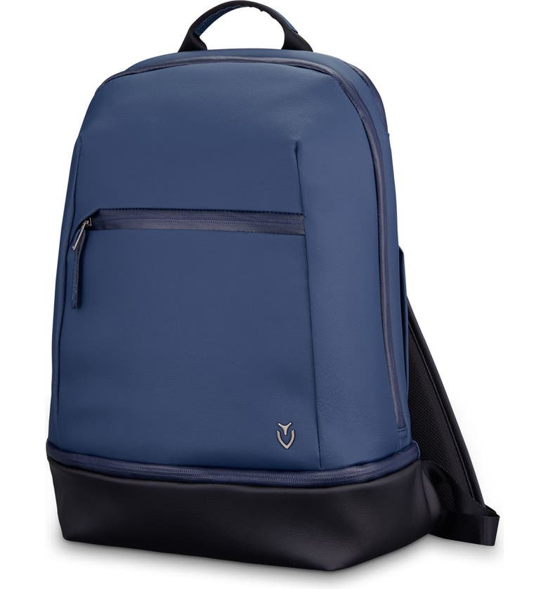 VESSEL Signature 2.0 Faux Leather Backpack, Main, color, PEBBLED NAVY/ BLACK