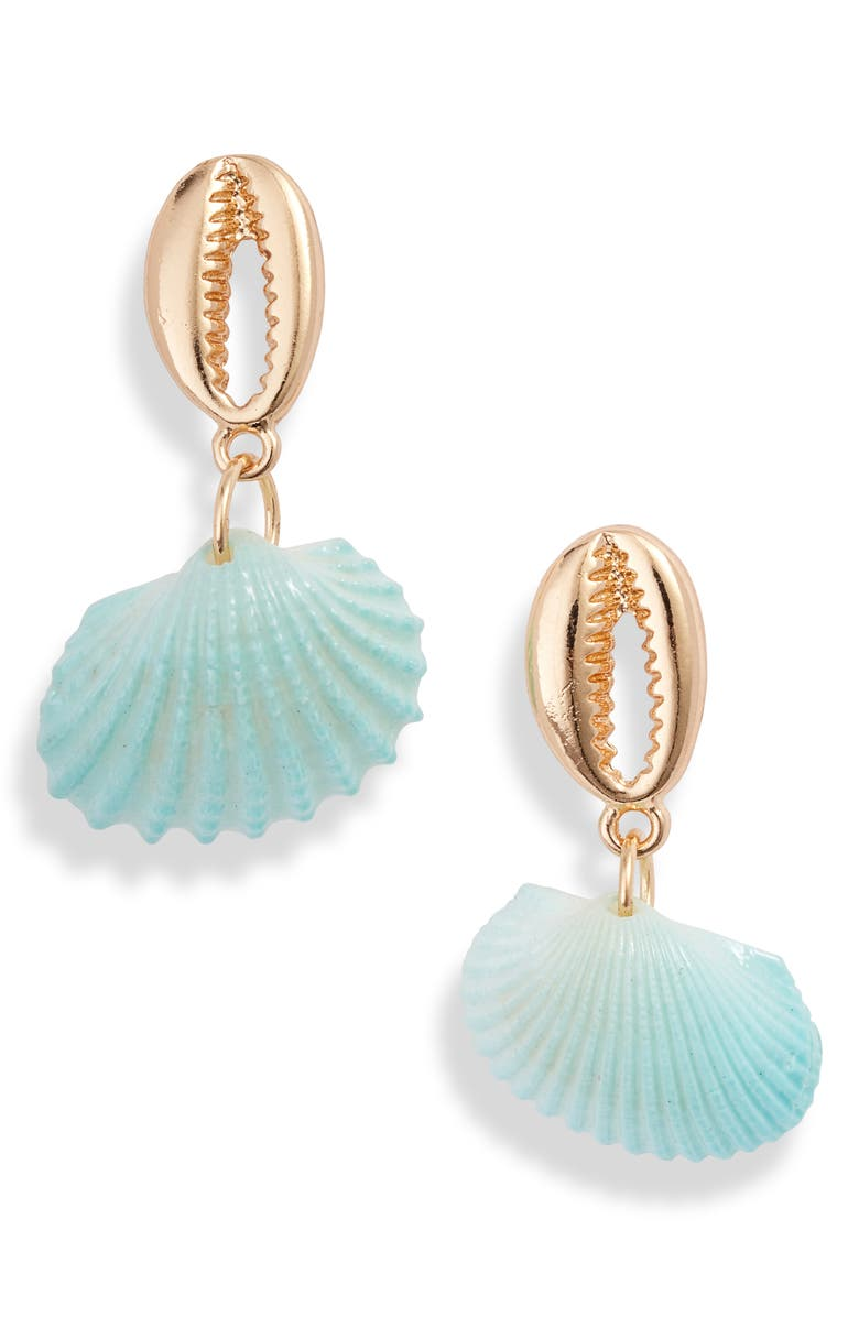 8 OTHER REASONS South Beach Shell Drop Earrings, Main, color, 449