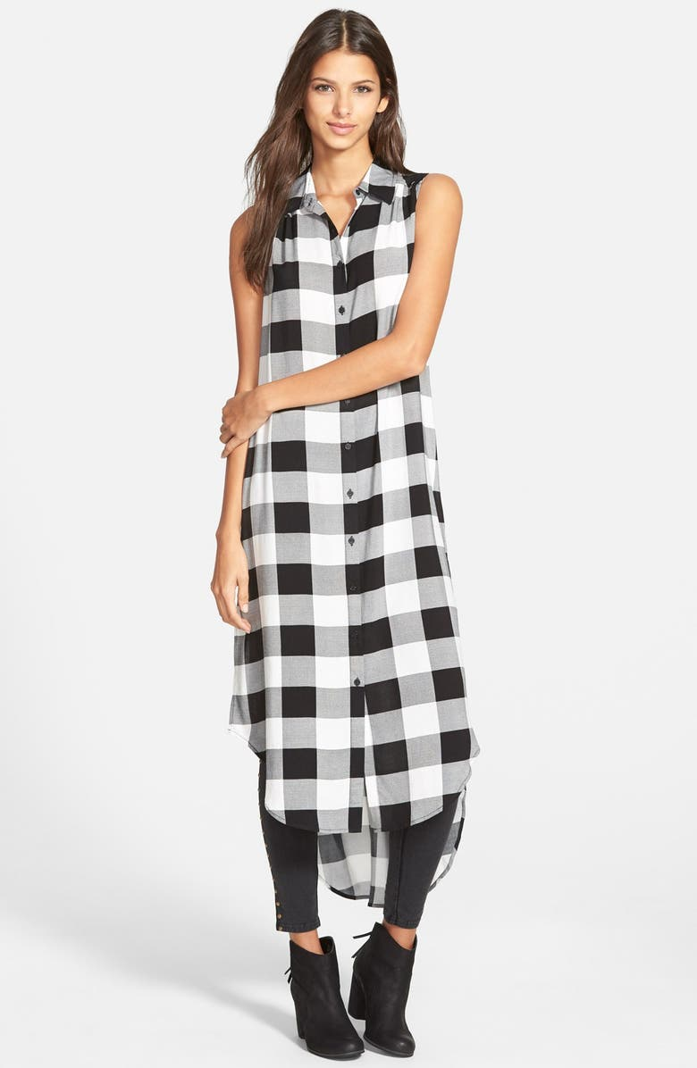 COTTON EXPRESS Plaid Tunic Shirt, Main, color, 001