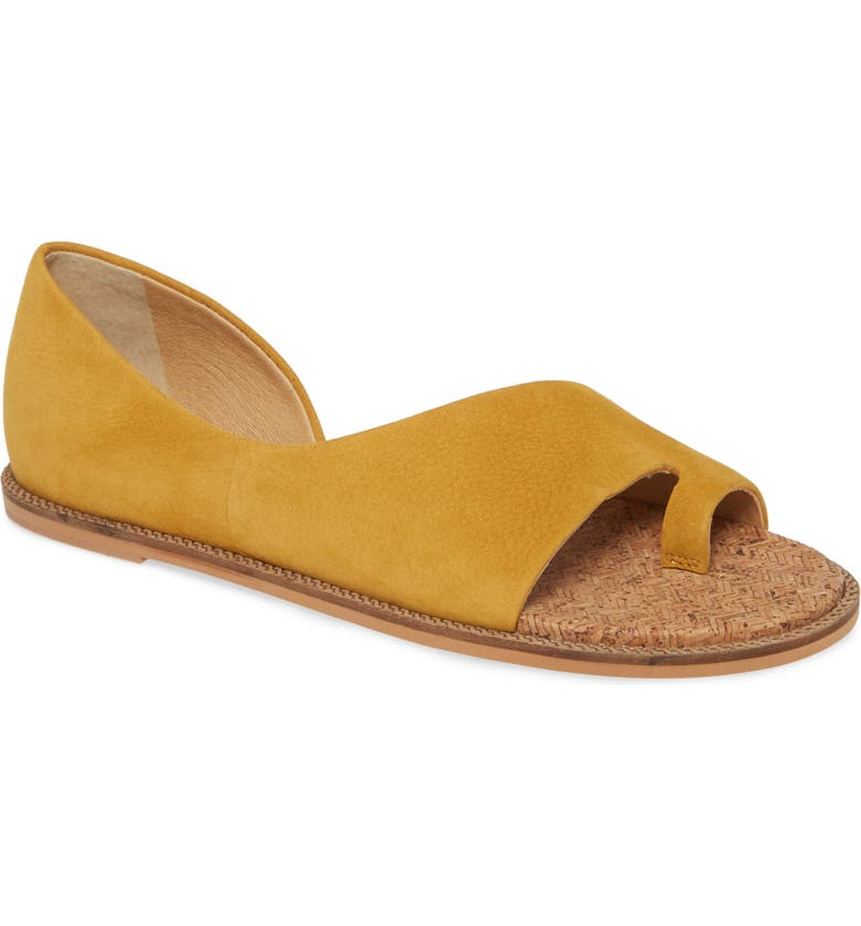 LUCKY BRAND Falinda Sandal, Main, color, GOLDEN YELLOW LEATHER