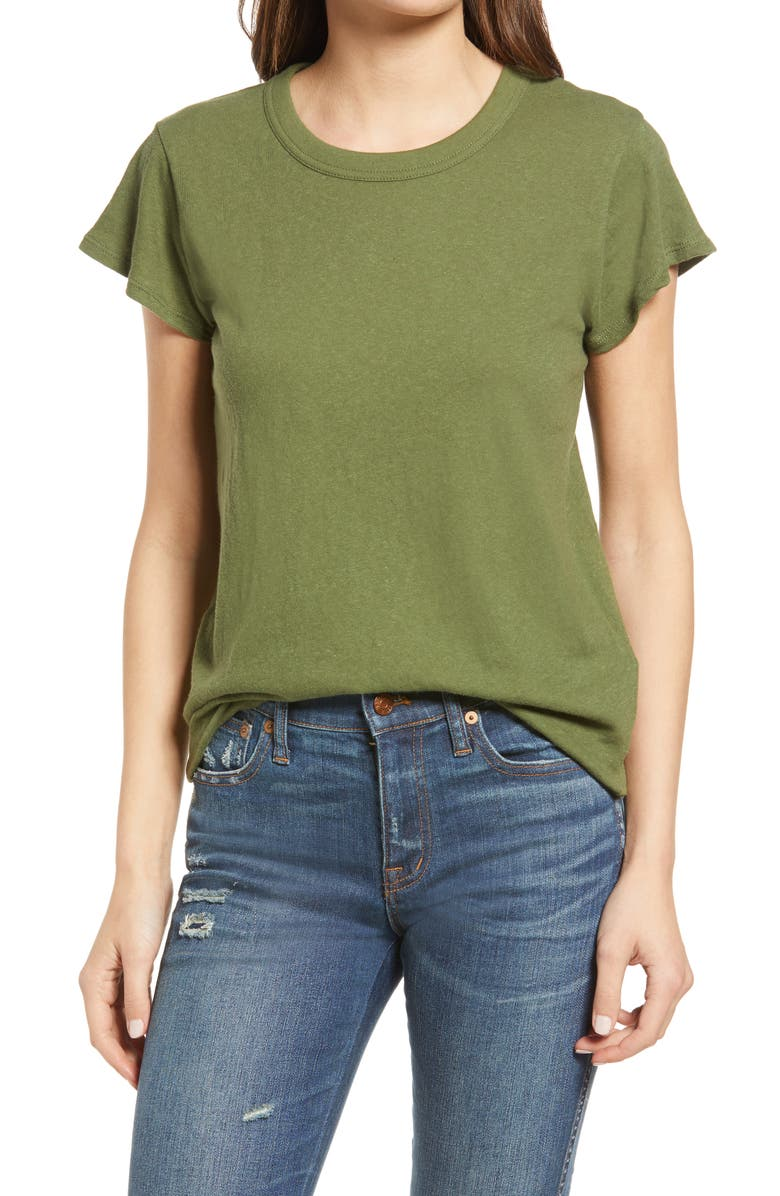 MADEWELL The Perfect Vintage T-Shirt, Main, color, PALM TREE