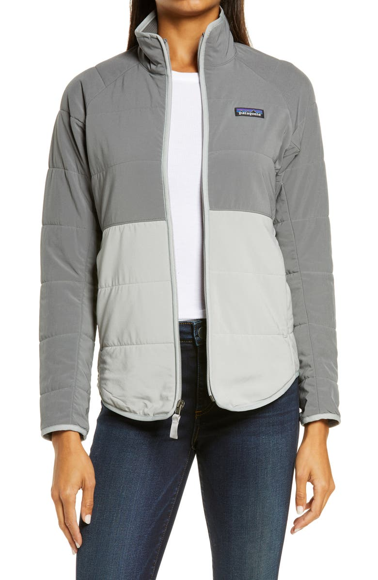 PATAGONIA Pack In Insulated Jacket, Main, color, GREY