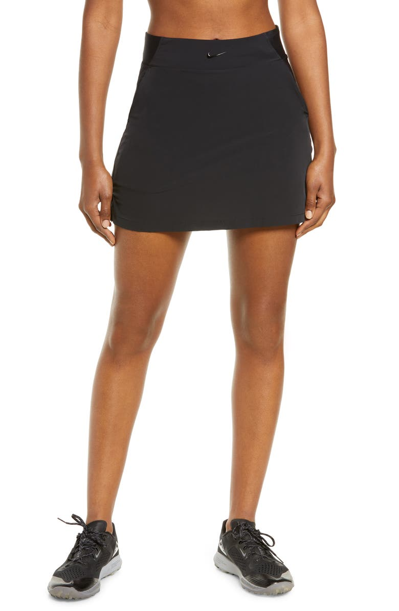 NIKE Bliss Lux Training Skort, Main, color, BLACK/ CLEAR