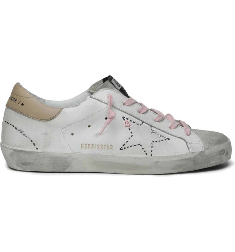 GOLDEN GOOSE Super-Star Low Top Sneaker, Main, color, ICE/ WHITE/ INCENSE