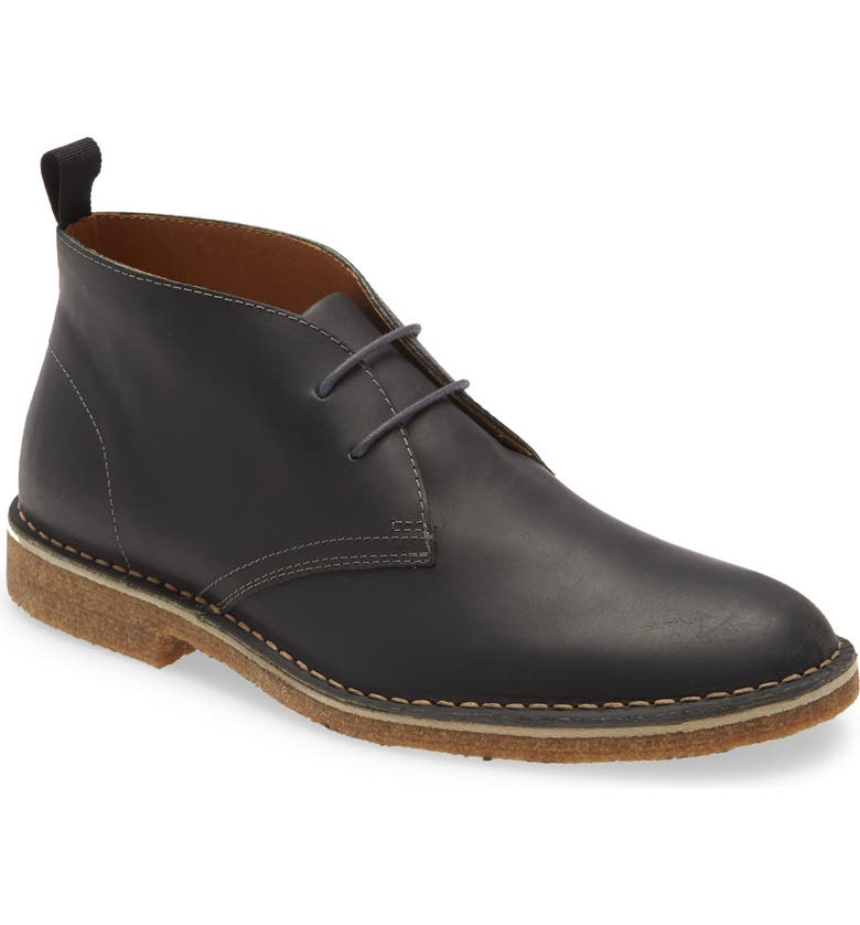 NORDSTROM 1901 Hudson Chukka Boot, Main, color, BLACK OILED LEATHER