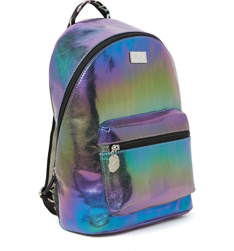 LUV BETSEY BY BETSEY JOHNSON Spark Metallic Backpack, Main, color, PURPLE