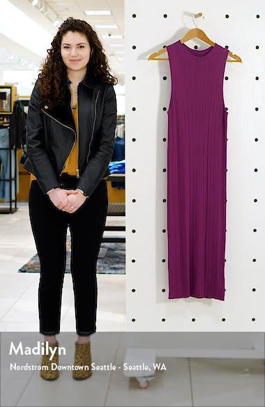 Mock Neck Ribbed Midi Dress, sales video thumbnail
