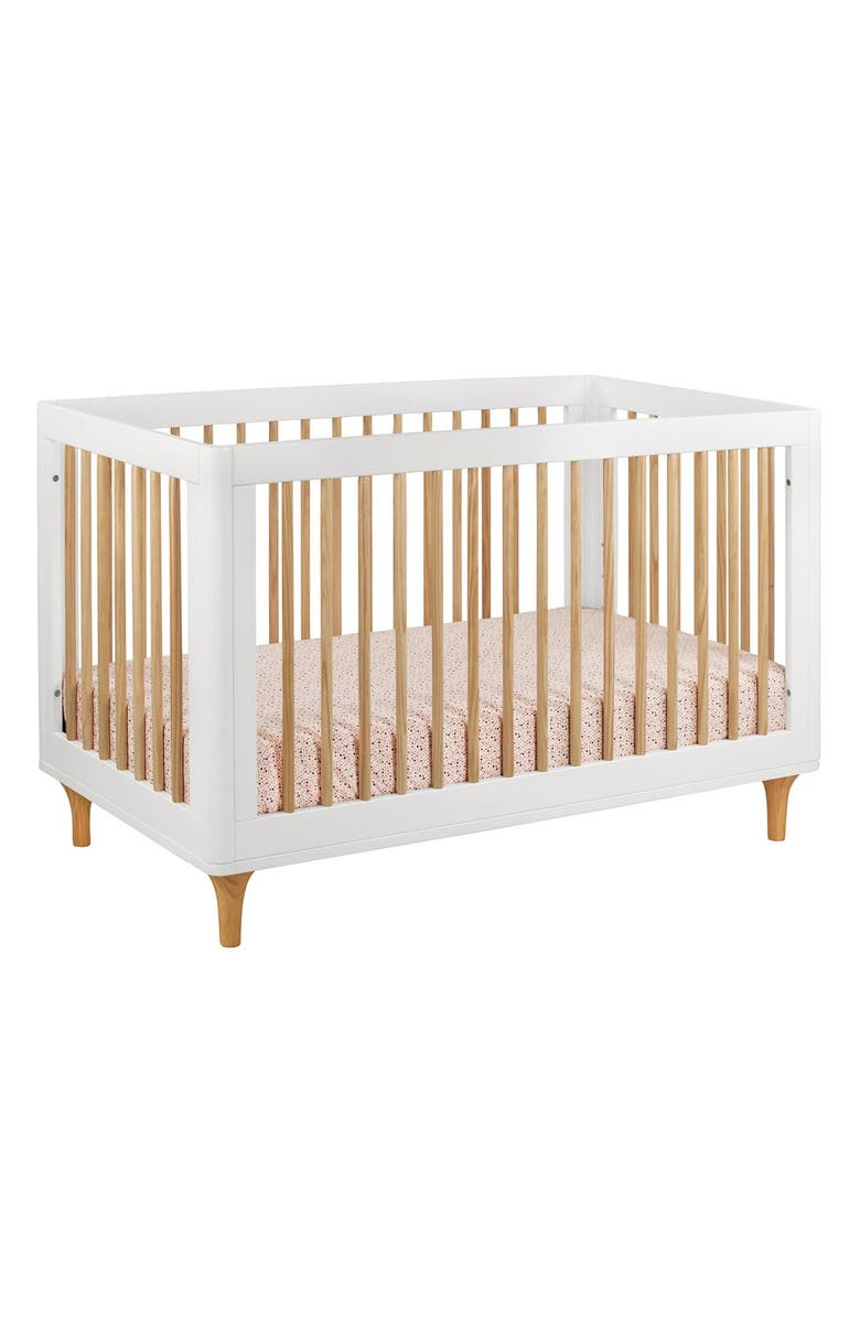 BABYLETTO 'Lolly' 3-in-1 Convertible Crib, Main, color, WHITE/ NATURAL