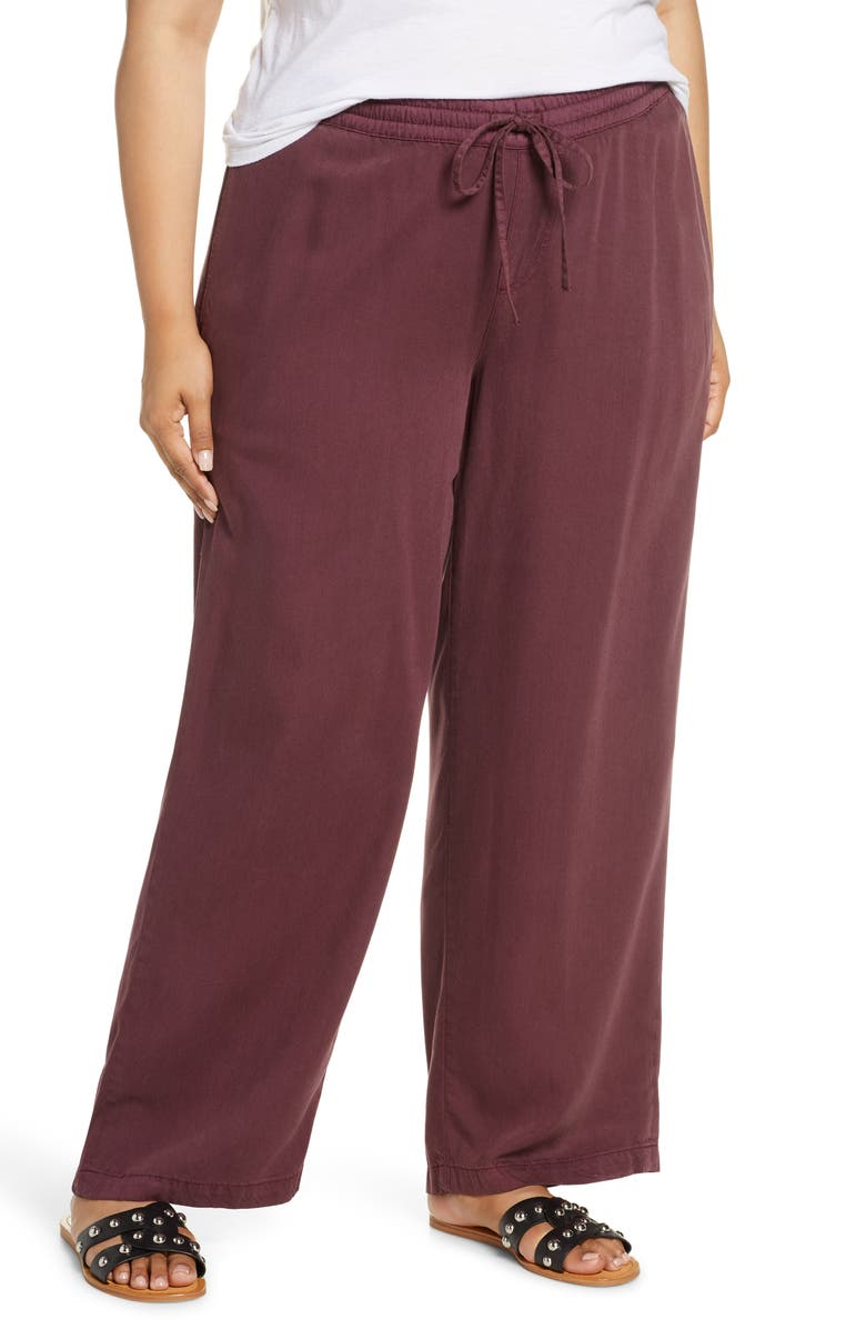 SLINK JEANS Palazzo Pants, Main, color, DECADENT CHOCOLATE