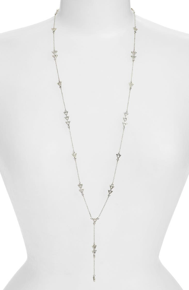 HOUSE OF HARLOW 1960 'Nilotic' Pavé Station Long Y-Necklace, Main, color, 040