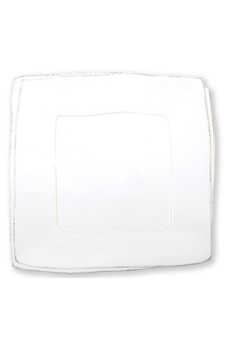 VIETRI Lastra Square Platter, Main, color, WHITE