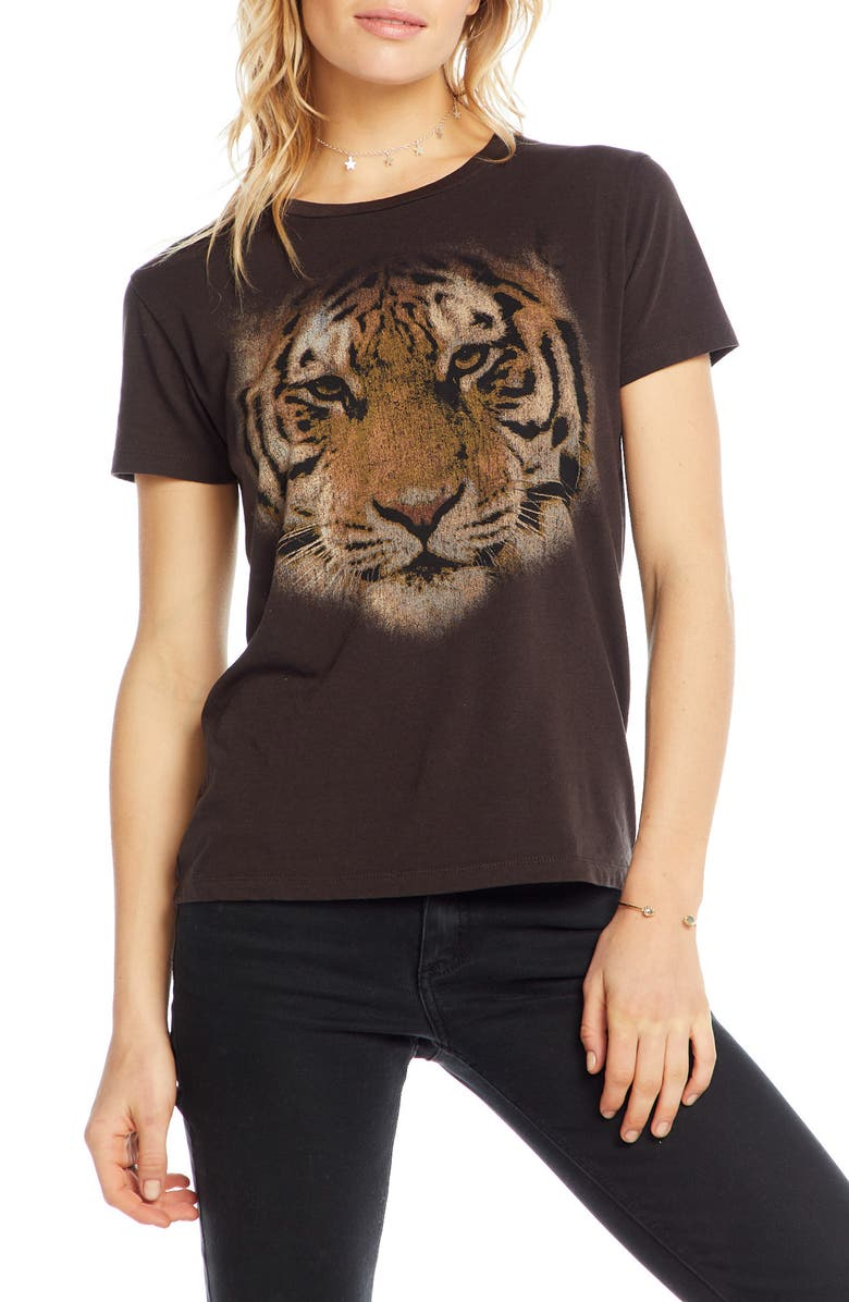 CHASER Tiger Eyes Graphic Sleep Tee, Main, color, 001