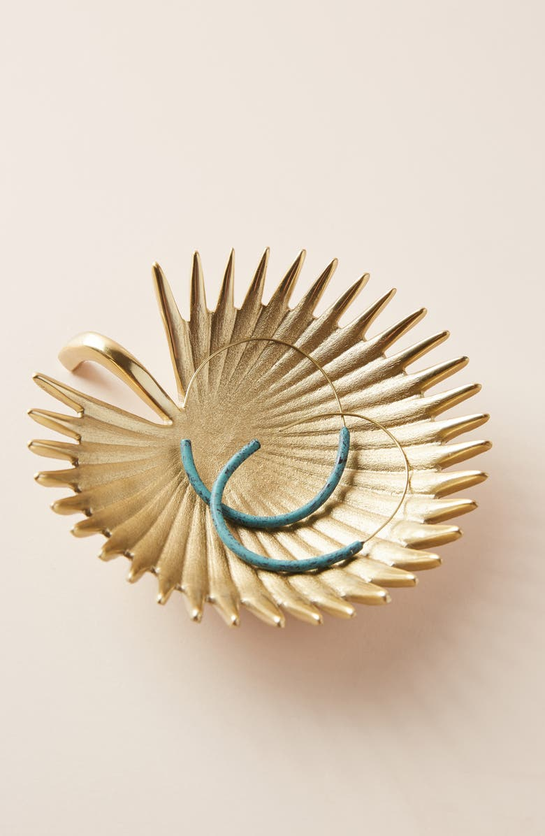 ANTHROPOLOGIE HOME Anthropologie Palm Trinket Dish, Main, color, 710