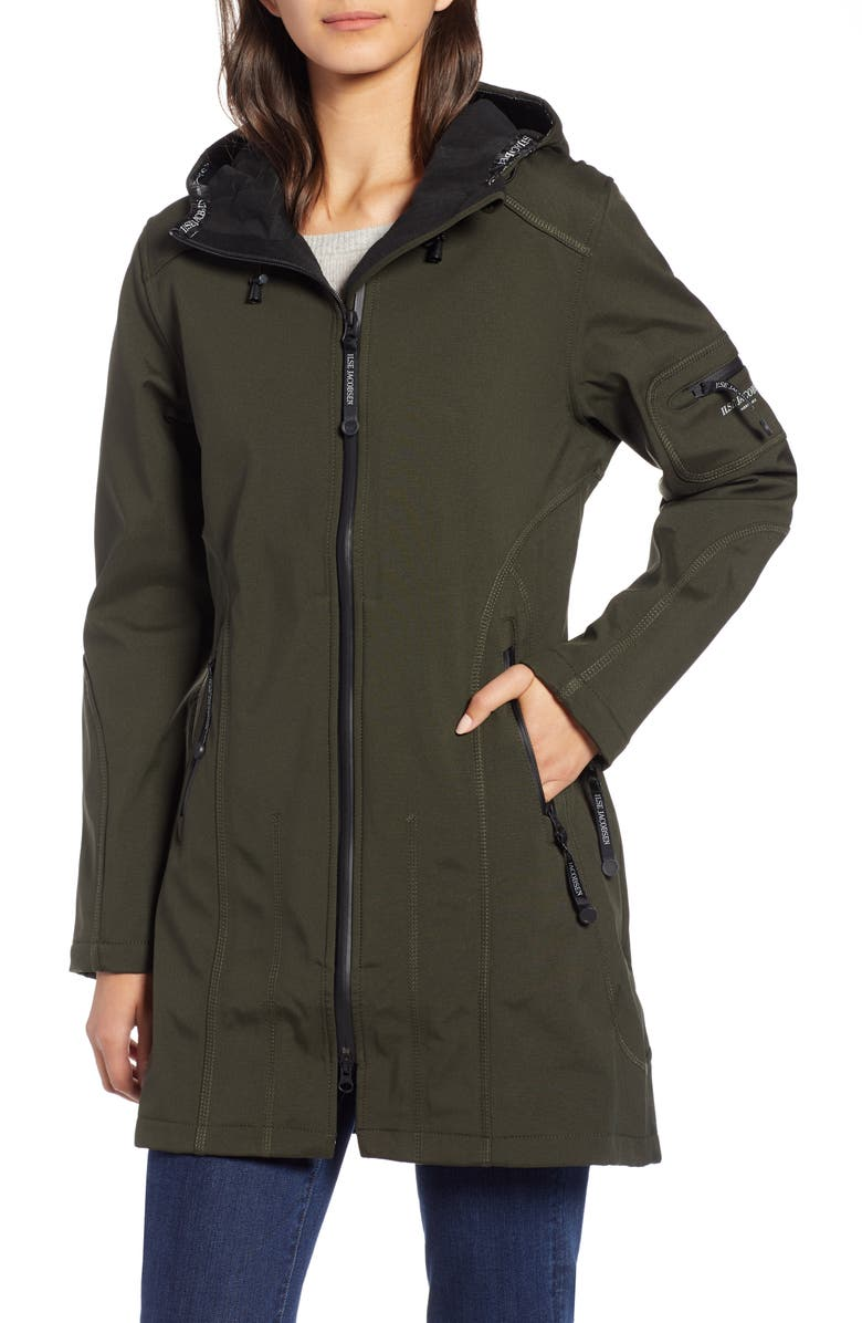 ILSE JACOBSEN Rain 7 Hooded Water Resistant Coat, Main, color, 301