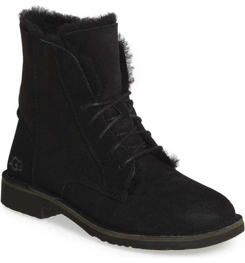 UGG<SUP>®</SUP> Quincy Boot, Main, color, BLACK SUEDE