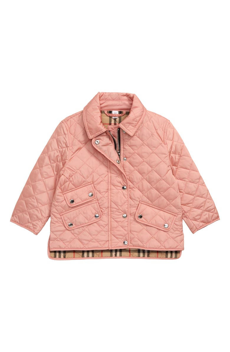 BURBERRY Brennan Water Resistant Diamond Quilted Jacket, Main, color, 651