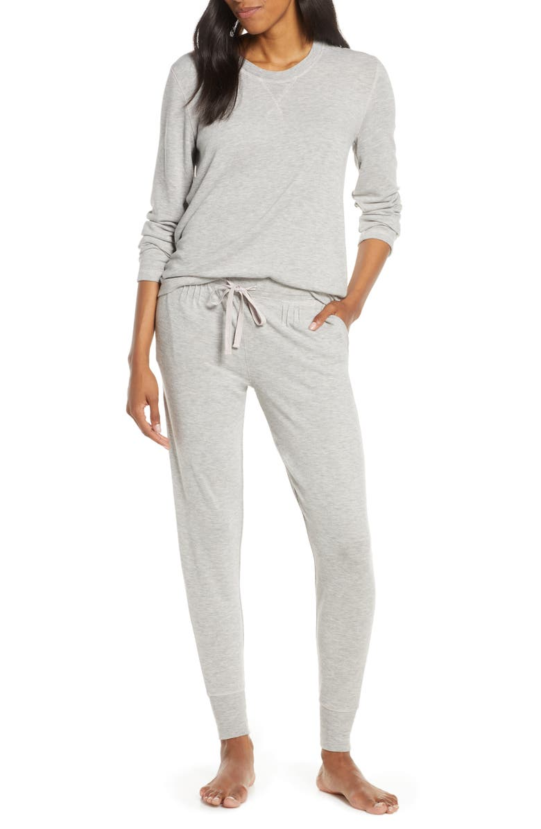 PAPINELLE Feather Soft Pajamas, Main, color, GREY MARL