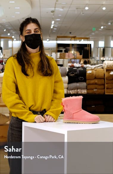Mini Bailey Bow II Genuine Shearling Bootie, sales video thumbnail