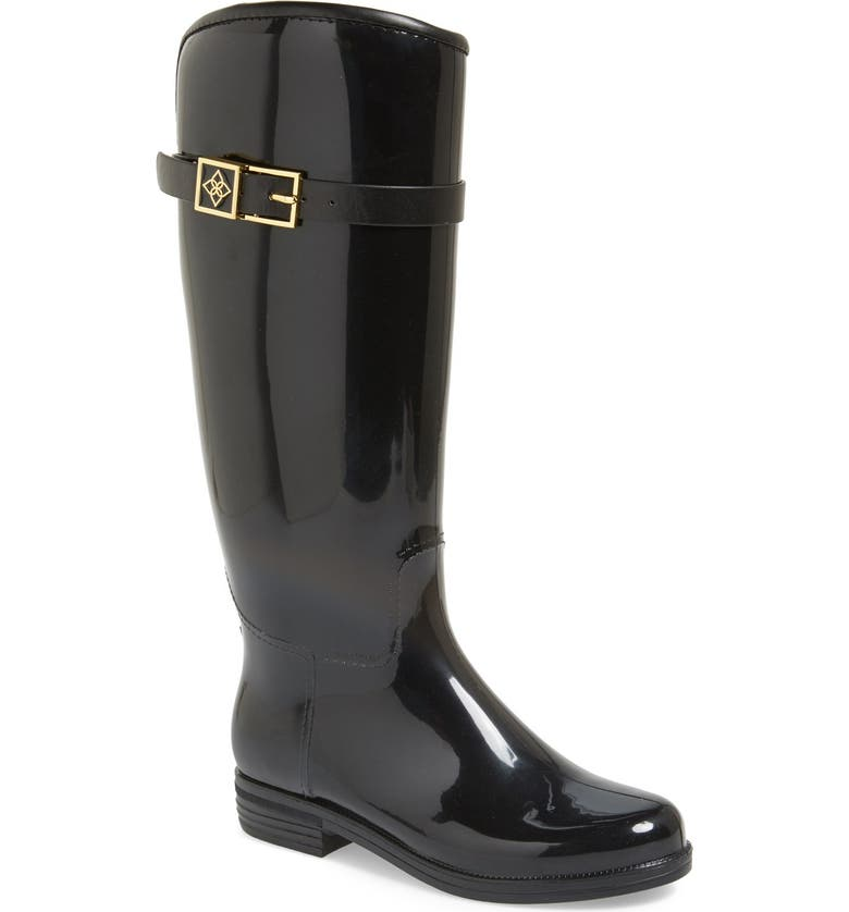 DÄV Bristol Weatherproof Knee High Rain Boot, Main, color, 001