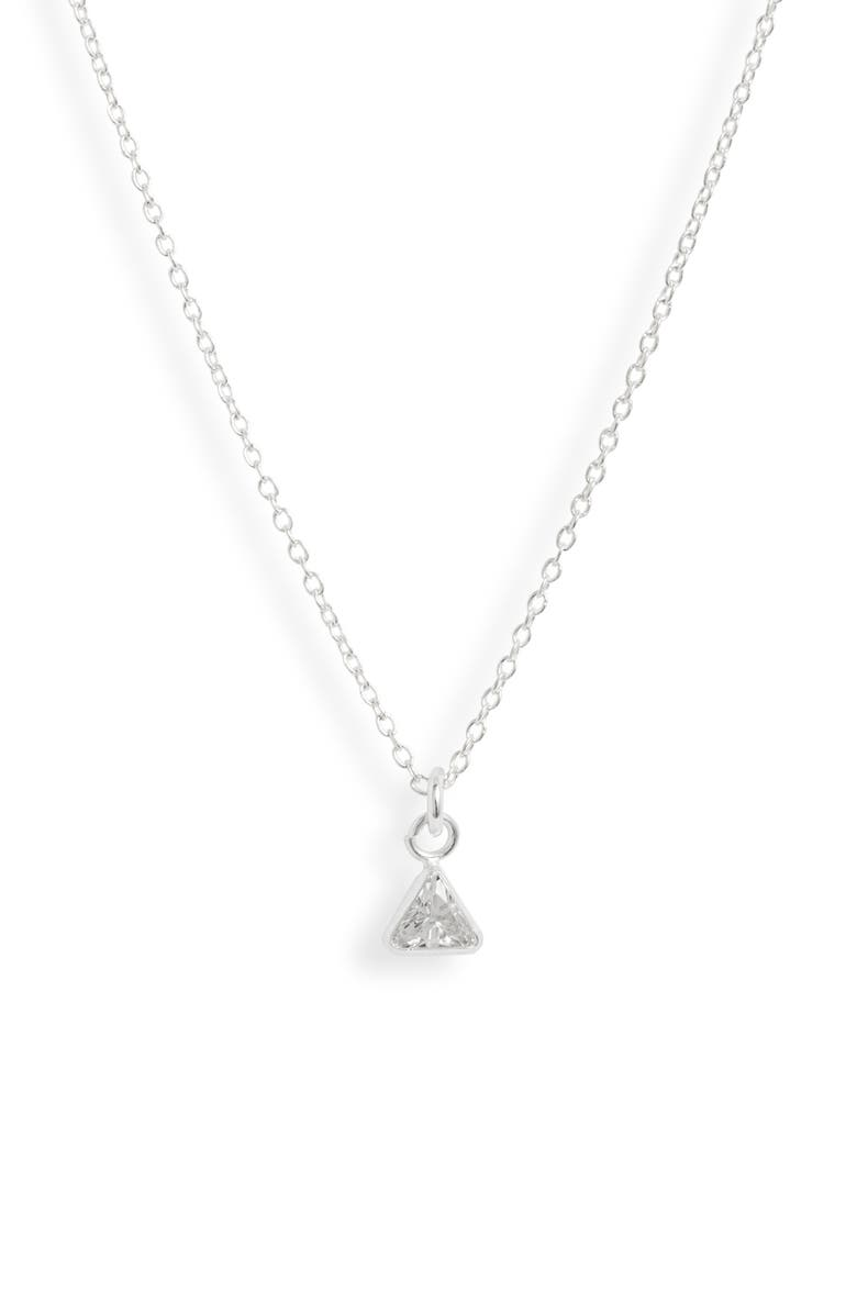 SET & STONES Becca Pendant Necklace, Main, color, SILVER