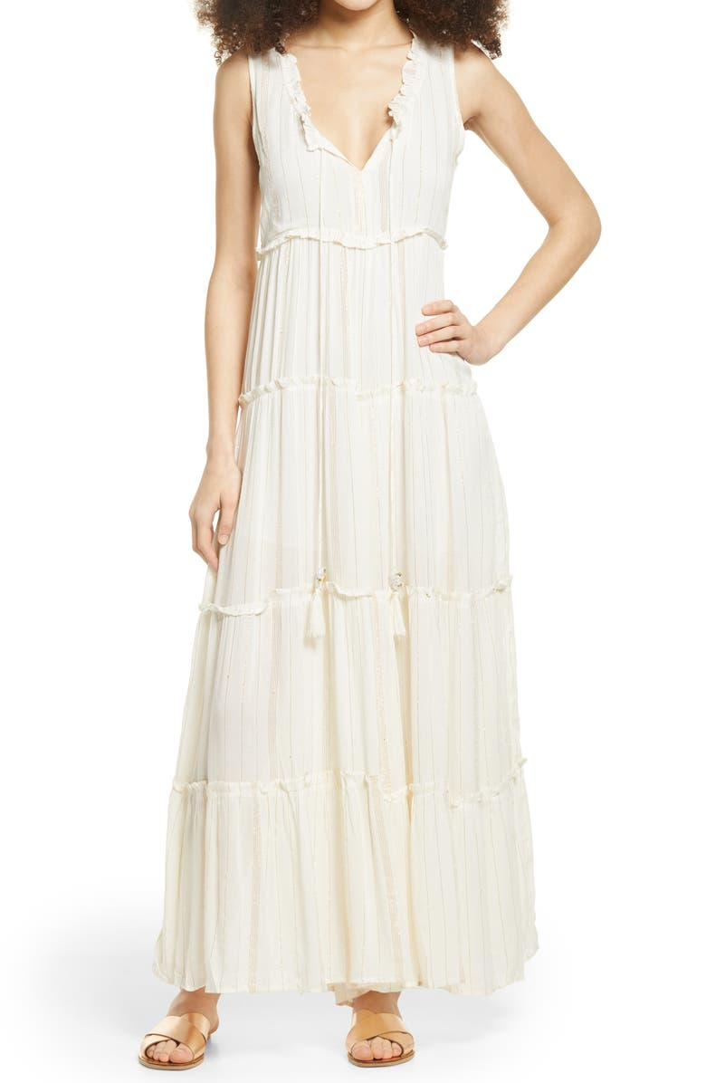 RAGA Golden Rules Tiered Jumpsuit, Main, color, 100