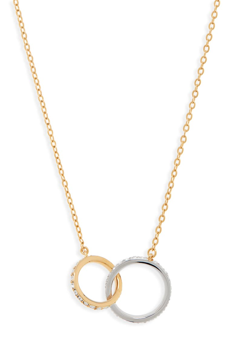 NORDSTROM Infinity Link Short Necklace, Main, color, CLEAR- GOLD- SILVER