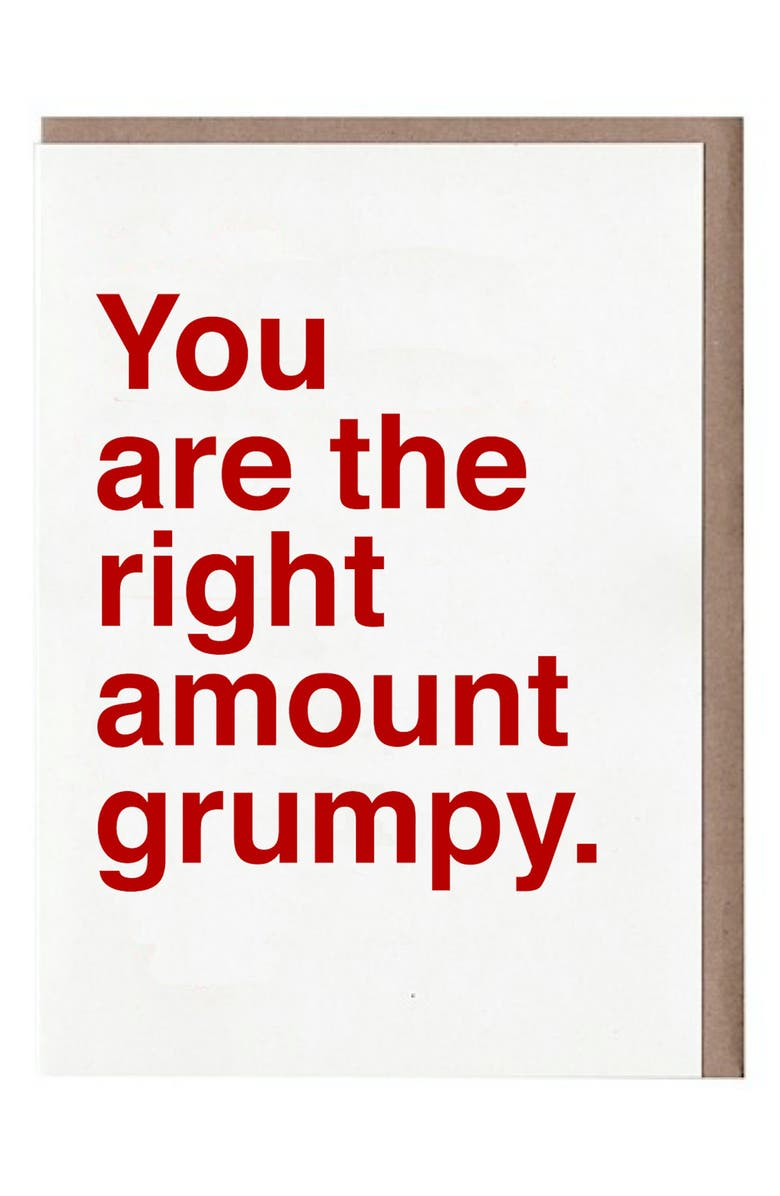 SAD SHOP 8-Pack You Are the Right Amount of Grumpy Blank Cards, Main, color, WHITE/ RED