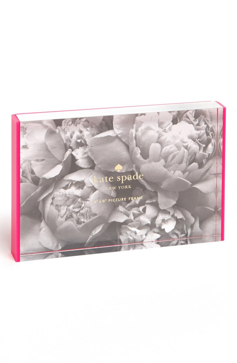 KATE SPADE NEW YORK acrylic picture frame, Main, color, 650