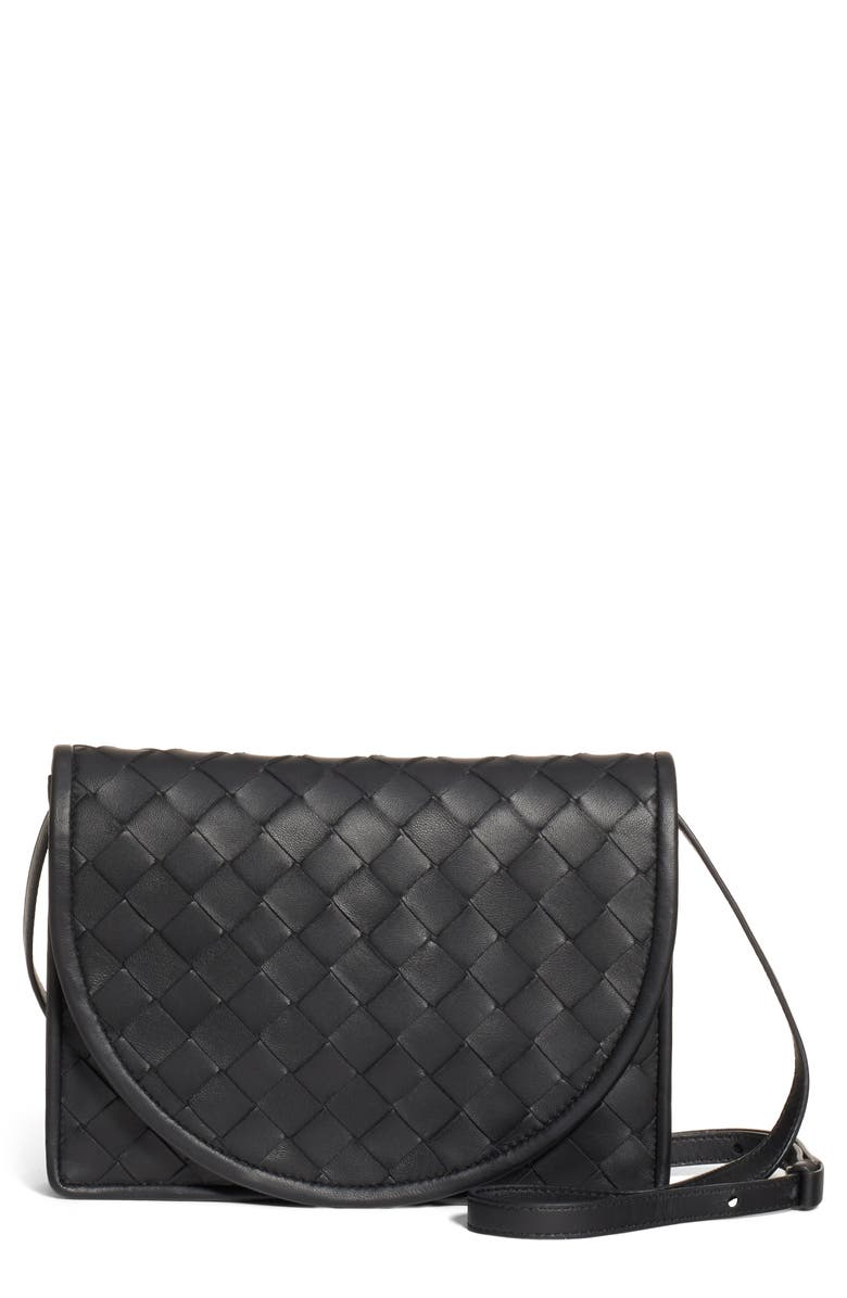 BOTTEGA VENETA Intrecciato Leather Wallet on a Strap, Main, color, 006