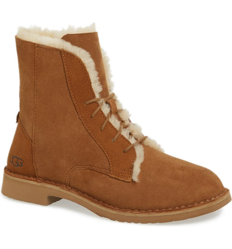 UGG<SUP>®</SUP> Quincy Boot, Main, color, CHESTNUT SUEDE